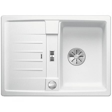 Blanco Lexa 40 S Silgranit PuraDur Zlewozmywak granitowy jednokomorowy 68x50 cm z korkiem automatycznym InFino biały 524884