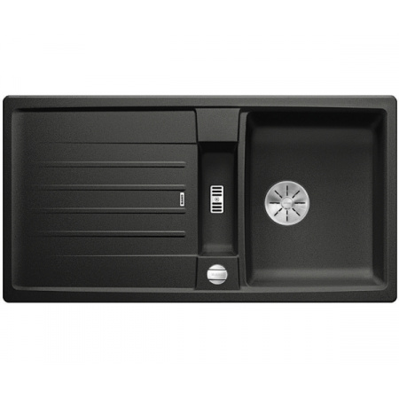 Blanco Lexa 5 S Silgranit PuraDur Zlewozmywak granitowy jednokomorowy 95x50 cm z korkiem automatycznym InFino antracyt 524920