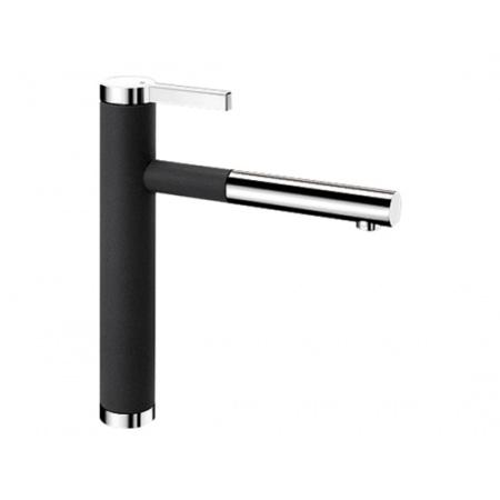 Blanco Linee-S Silgranit-Look Bateria kuchenna z wyciąganą wylewką czarna antracyt 518438