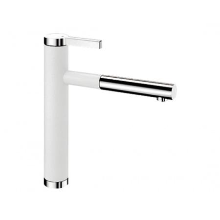 Blanco Linee-S Silgranit-Look Bateria kuchenna z wyciąganą wylewką biała 518441