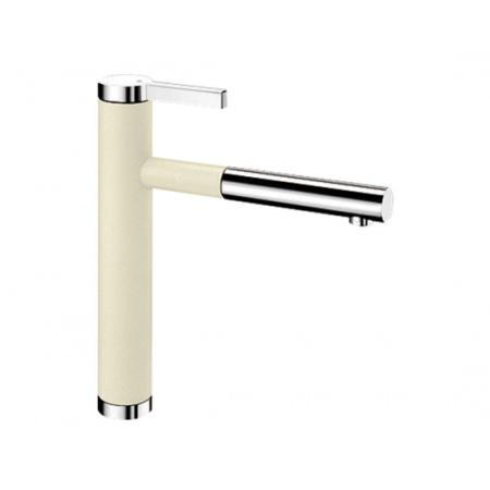 Blanco Linee-S Silgranit-Look Bateria kuchenna z wyciąganą wylewką kremowa jaśminowa 518442