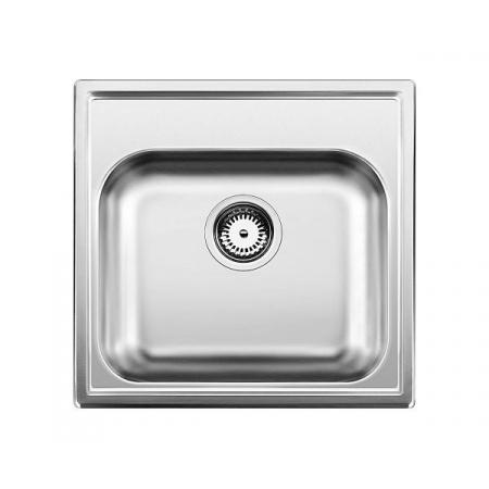 Blanco Livit 45 Zlewozmywak stalowy jednokomorowy 48x50 cm bez korka automatycznego, stal szczotkowana 514785