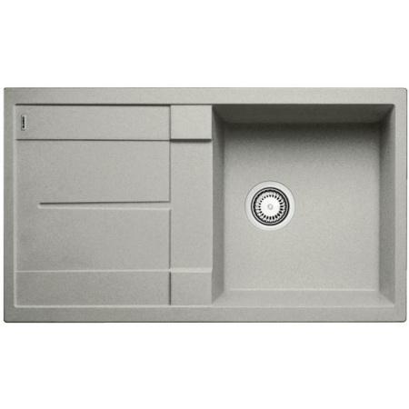 Blanco Metra 5 S Zlewozmywak granitowy Silgranit PuraDur jednokomorowy 86x50 cm z ociekaczem, bez korka automatycznego, perłowoszary 520572