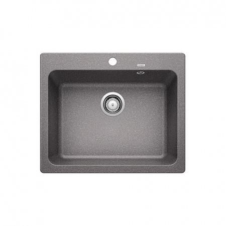 Blanco Naya 6 Zlewozmywak granitowy Silgranit PuraDur jednokomorowy 61,5x51 cm bez korka automatycznego, alumetalik 519640