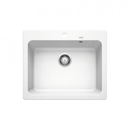 Blanco Naya 6 Zlewozmywak granitowy Silgranit PuraDur jednokomorowy 61,5x51 cm bez korka automatycznego, biały 519641