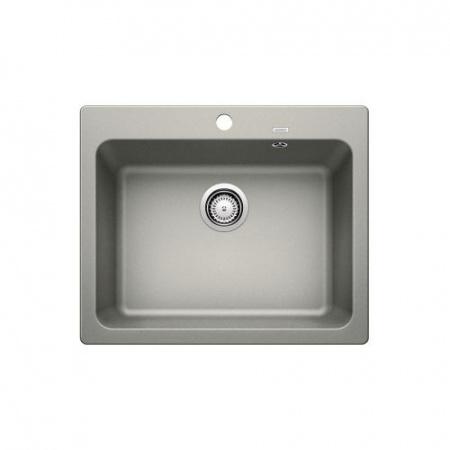 Blanco Naya 6 Zlewozmywak granitowy Silgranit PuraDur jednokomorowy 61,5x51 cm bez korka automatycznego, perłowoszary 520593