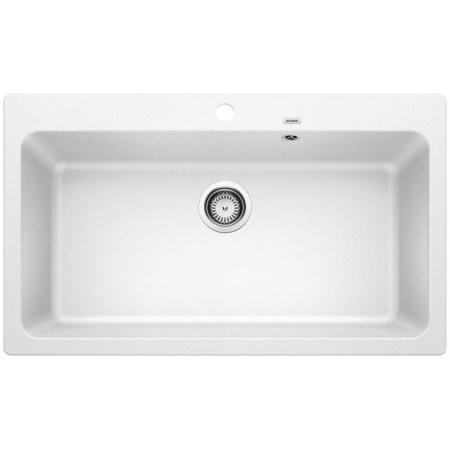 Blanco Naya XL 9 Zlewozmywak granitowy Silgranit PuraDur jednokomorowy 86x51 cm bez korka automatycznego, biały 521816