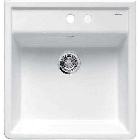 Blanco Panor 60 Zlewozmywak ceramiczny jednokomorowy 60x63 cm bez korka automatycznego biały połysk 514501