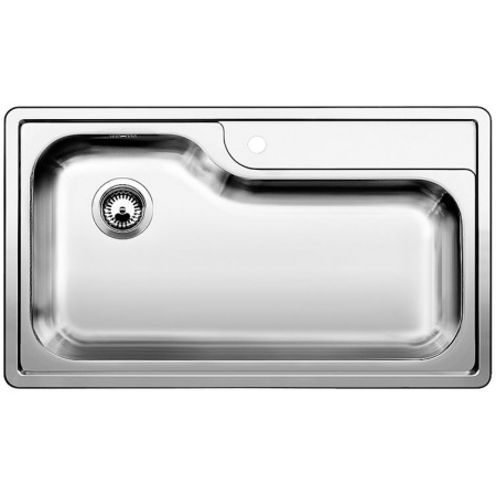 Blanco Plenta Zlewozmywak stalowy jednokomorowy 86x50 cm bez korka automatycznego, stal szczotkowana 514029