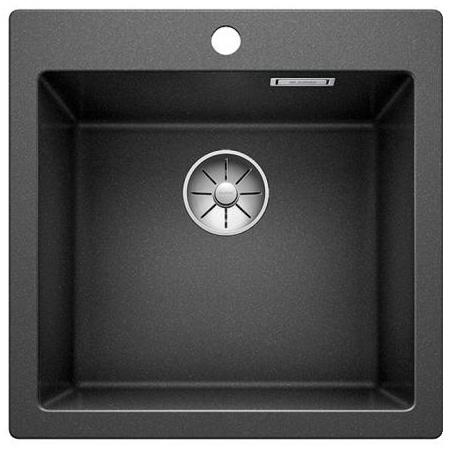 Blanco Pleon 5 Zlewozmywak granitowy Silgranit PuraDur jednokomorowy 51,5x51 cm bez korka automatycznego, antracytowy 521504