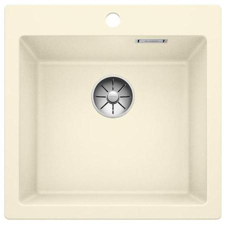 Blanco Pleon 5 Zlewozmywak granitowy Silgranit PuraDur jednokomorowy 51,5x51 cm bez korka automatycznego, jaśminowy 521673