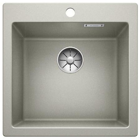 Blanco Pleon 5 Zlewozmywak granitowy Silgranit PuraDur jednokomorowy 51,5x51 cm bez korka automatycznego, perłowoszary 521671