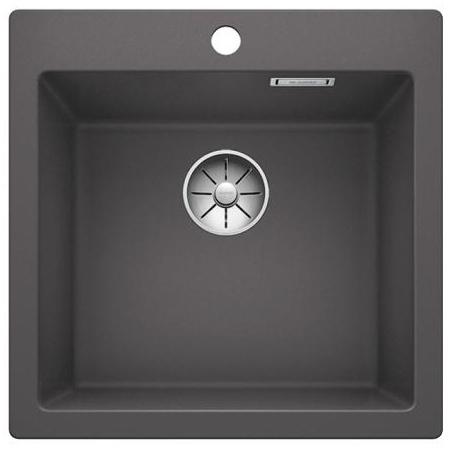 Blanco Pleon 5 Zlewozmywak granitowy Silgranit PuraDur jednokomorowy 51,5x51 cm bez korka automatycznego, szarość skały 521669