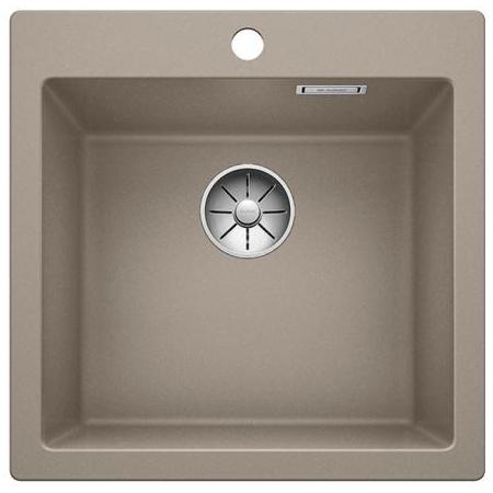 Blanco Pleon 5 Zlewozmywak granitowy Silgranit PuraDur jednokomorowy 51,5x51 cm bez korka automatycznego, tartufo 521675