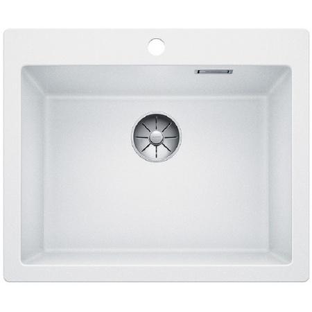 Blanco Pleon 6 Zlewozmywak granitowy Silgranit PuraDur jednokomorowy 61,5x51 cm bez korka automatycznego, biały 521683