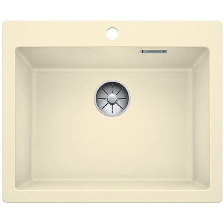 Blanco Pleon 6 Zlewozmywak granitowy Silgranit PuraDur jednokomorowy 61,5x51 cm bez korka automatycznego, jaśminowy 521684
