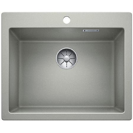 Blanco Pleon 6 Zlewozmywak granitowy Silgranit PuraDur jednokomorowy 61,5x51 cm bez korka automatycznego, perłowoszary 521682