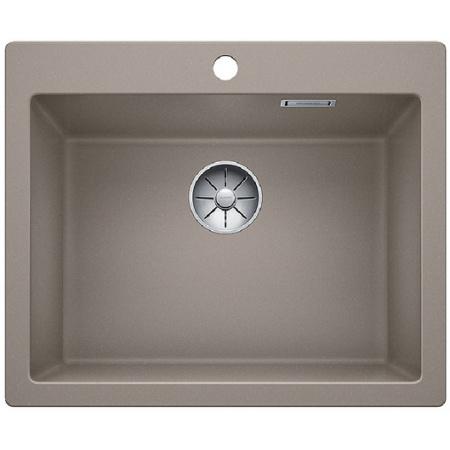 Blanco Pleon 6 Zlewozmywak granitowy Silgranit PuraDur jednokomorowy 61,5x51 cm bez korka automatycznego, tartufo 521686