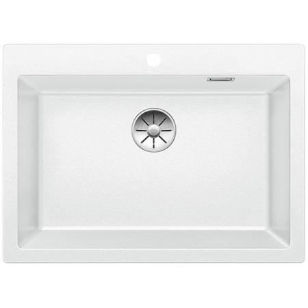 Blanco Pleon 8 Zlewozmywak granitowy Silgranit PuraDur jednokomorowy 70x51 cm bez korka automatycznego, biały 523047