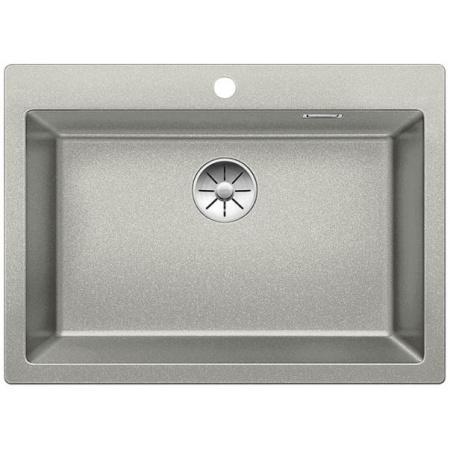 Blanco Pleon 8 Zlewozmywak granitowy Silgranit PuraDur jednokomorowy 70x51 cm bez korka automatycznego, perłowoszary 523046