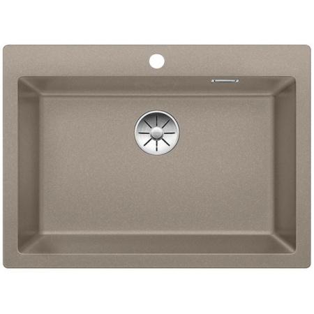 Blanco Pleon 8 Zlewozmywak granitowy Silgranit PuraDur jednokomorowy 70x51 cm bez korka automatycznego, tartufo 523050