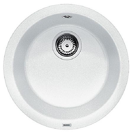 Blanco Rondo Zlewozmywak granitowy Silgranit PuraDur jednokomorowy bez korka automatycznego, biały 511621