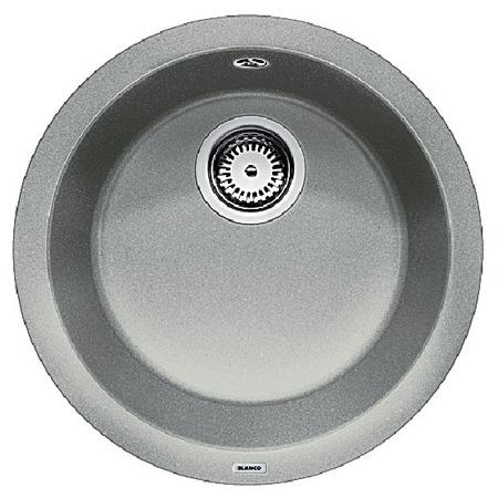 Blanco Rondo Zlewozmywak granitowy Silgranit PuraDur jednokomorowy bez korka automatycznego, perłowoszary 520601