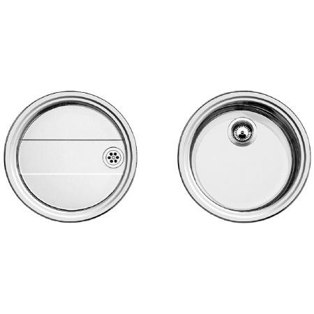 Blanco Rondoset Zlewozmywak stalowy jednokomorowy okrągły bez korka automatycznego, stal szczotkowana 513310