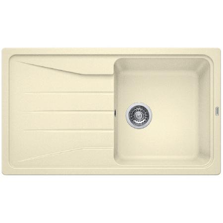 Blanco Sona 5 S Zlewozmywak granitowy Silgranit PuraDur jednokomorowy 86x50 cm z ociekaczem, bez korka automatycznego, jaśminowy 519675