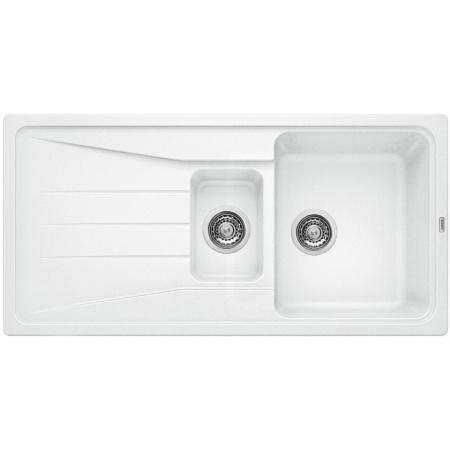 Blanco Sona 6 S Zlewozmywak granitowy Silgranit PuraDur półtorakomorowy 100x50 cm bez korka automatycznego biały 519855