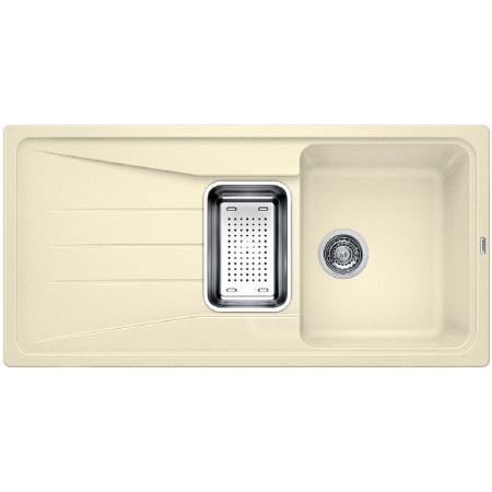 Blanco Sona 6 S Zlewozmywak granitowy Silgranit PuraDur półtorakomorowy 100x50 cm z ociekaczem, bez korka automatycznego, jaśminowy 519684