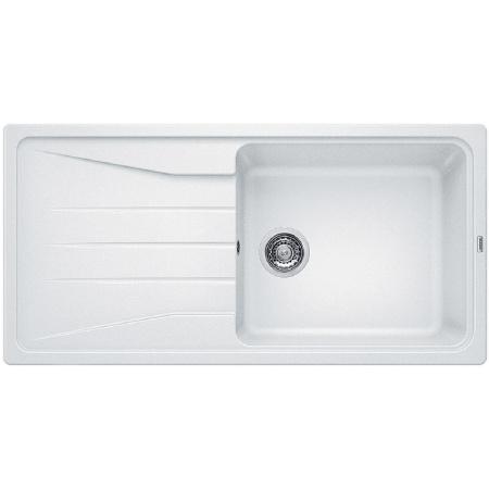 Blanco Sona XL 6 S Zlewozmywak granitowy Silgranit PuraDur jednokomorowy 100x50 cm z ociekaczem, bez korka automatycznego, biały 519692