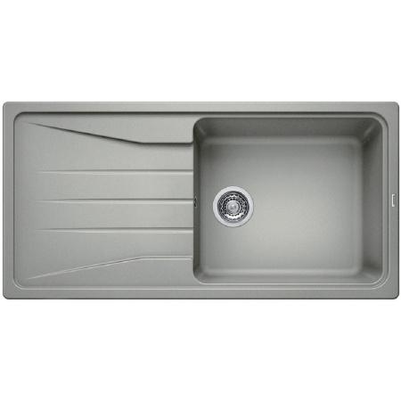 Blanco Sona XL 6 S Zlewozmywak granitowy Silgranit PuraDur jednokomorowy 100x50 cm z ociekaczem, bez korka automatycznego, perłowoszary 519695