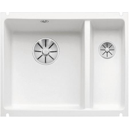 Blanco Subline 350/150-U Zlewozmywak ceramiczny 1,5-komorowy 56,7x45,6 cm bez ociekacza, biały połysk 523741