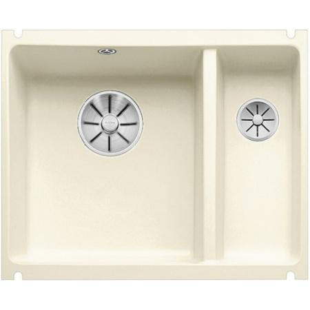 Blanco Subline 350/150-U Zlewozmywak ceramiczny 1,5-komorowy 56,7x45,6 cm bez ociekacza, magnolia połysk 523742