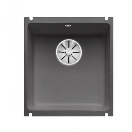 Blanco Subline 375-U Zlewozmywak ceramiczny 1-komorowy 45,6x41,4 cm bez ociekacza, bazaltowy 523731