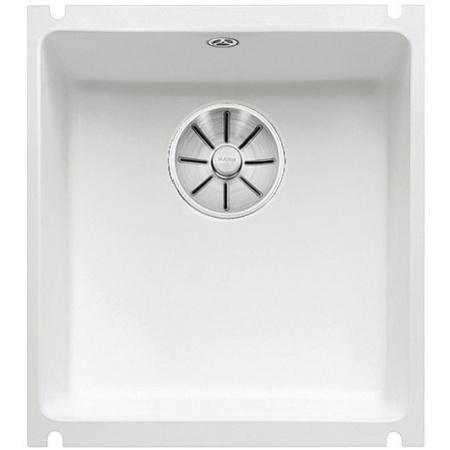 Blanco Subline 375-U Zlewozmywak ceramiczny 1-komorowy 45,6x41,4 cm bez ociekacza, biały połysk 523726