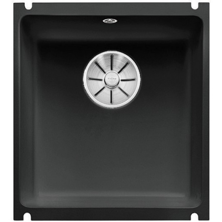 Blanco Subline 375-U Zlewozmywak ceramiczny 1-komorowy 45,6x41,4 cm bez ociekacza, czarny 523732