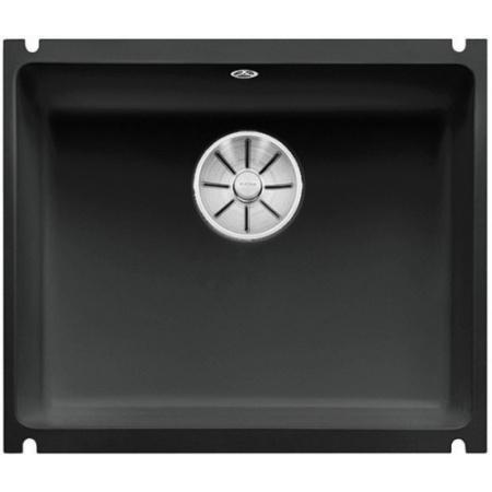 Blanco Subline 500-U Zlewozmywak ceramiczny 1-komorowy 54,3x45,6 cm bez ociekacza, czarny 523740