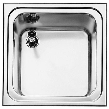 Blanco Top EE 5 x 5-4,3 Zlewozmywak stalowy jednokomorowy 50x50 cm bez korka automatycznego stalowy mat 521453