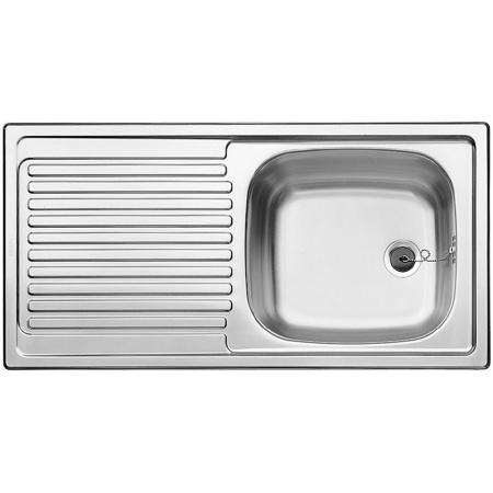 Blanco Top EES 8 x 4 Zlewozmywak stalowy jednokomorowy 86x43,5 cm bez korka automatycznego stalowy mat 500370