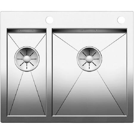 Blanco Zerox 340/180-IF/A Zlewozmywak stalowy półtorakomorowy 60,5x51 cm z korkiem automatycznym, stalowy 521642