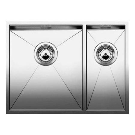 Blanco Zerox 340/180-U Zlewozmywak stalowy półtorakomorowy 58,5x44 cm lewy bez korka automatycznego stalowy 521613