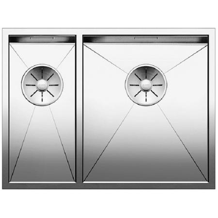 Blanco Zerox 340/180-U Zlewozmywak stalowy półtorakomorowy 58,5x44 cm prawy bez korka automatycznego stalowy 521614