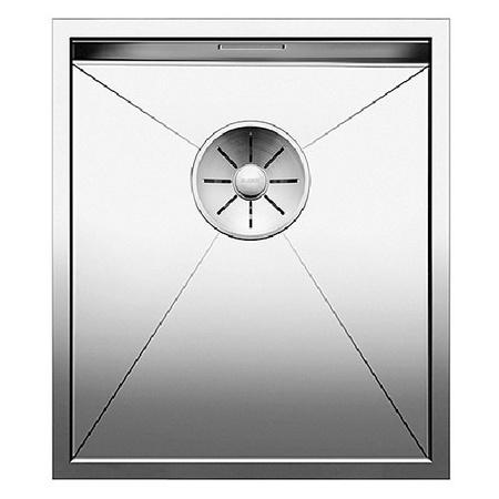 Blanco Zerox 340-IF Zlewozmywak stalowy jednokomorowy 38x44 cm bez korka automatycznego, stalowy 521582