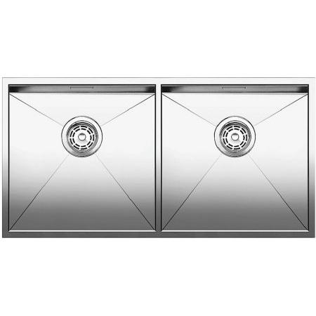 Blanco Zerox 400/400-IF Zlewozmywak stalowy dwukomorowy 86,5x44 cm bez korka automatycznego, stalowy 521619