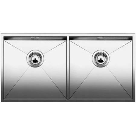 Blanco Zerox 400/400-U Zlewozmywak stalowy dwukomorowy 86,5x44 cm bez korka automatycznego stalowy 521620