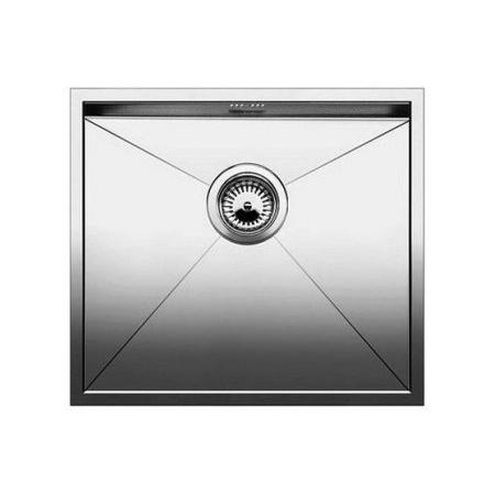 Blanco Zerox 500-IF Zlewozmywak stalowy jednokomorowy 54x44 cm bez korka automatycznego, stalowy 521588