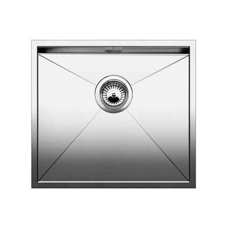 Blanco Zerox 500-U Zlewozmywak stalowy jednokomorowy 54x44 cm bez korka automatycznego stalowy 521589