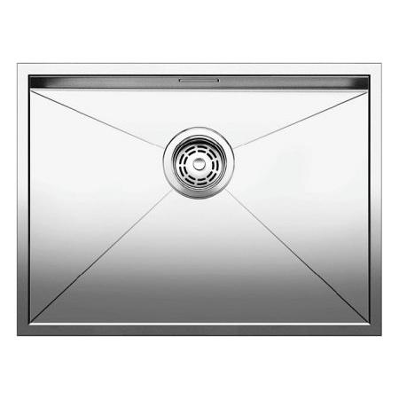 Blanco Zerox 550-IF Zlewozmywak stalowy jednokomorowy 59x44 cm bez korka automatycznego, stalowy 521590